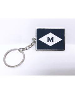 ''M'' Burgee Keychain