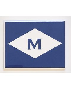 ''M'' Burgee Magnet