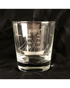 Clipper Ship Double Old Fashioned Glass Wide Mouth