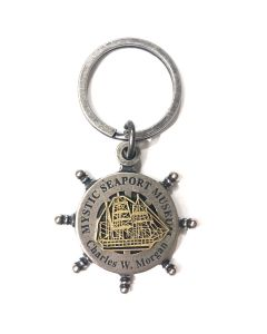 Charles W. Morgan Ship Wheel Keychain