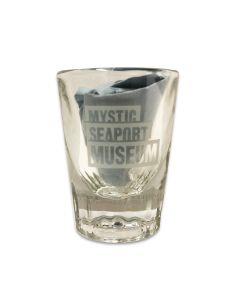 Mystic Seaport Museum Logo Shot Glass