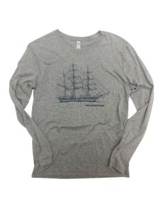Adult Long Sleeve Charles W. Morgan Blueprint Shirt