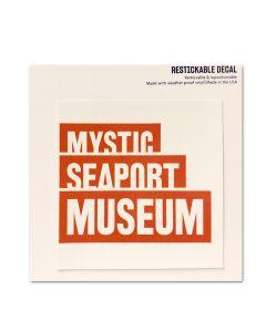 Mystic Seaport Museum Restickable Decal