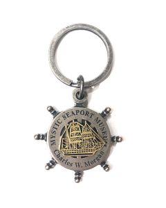 Charles W. Morgan Ship Wheel Keychain