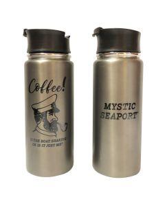 Mystic Seaport Stainless Steel Travel Mug